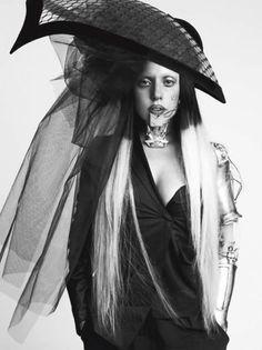 Lady Gaga by Inez & Vinoodh for L'Uomo Vogue January 2012