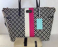 New Kate Spade Classic Adaira Baby Black Pink Diaper Bag WKRU1870 | eBay