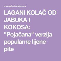 """LAGANI KOLAČ OD JABUKA I KOKOSA: """"Pojačana"""" verzija popularne lijene pite"""