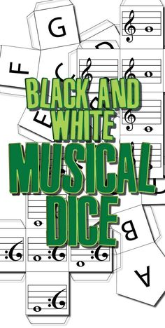 Black and White Musical Dice - Randomise for Tons of Fun. Elementary  ChoirMiddle School MusicSchool ...