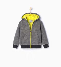 ZARA - KIDS - WL print sporty hooded sweatshirt