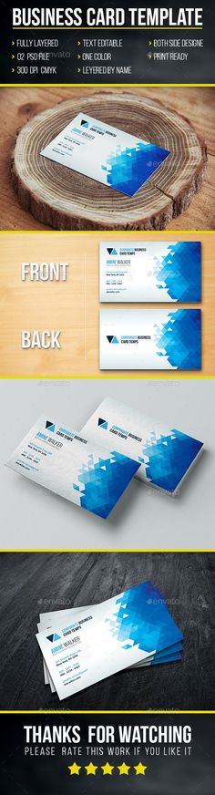 Business Card. Download here: https://graphicriver.net/item/business-card-template/17171671?ref=ksioks
