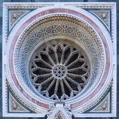 Florence Architectural Details Rose window, Duomo west side