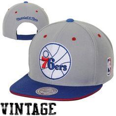 Philadelphia 76ers Grey Mitchell   Ness 2-Tone Snapback Hat  76ers ... 71b09a8d2d7