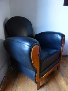 Deco Club Chair Recliner, with integral  footstool retracted