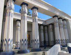 love the columns on the Rosicrucian Egyptian Museum, San Jose, San Francisco California