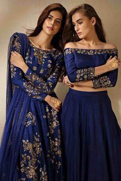 Wedding Reception Indian Outfit Bollywood Ideas For 2019 Ethnic Fashion, Asian Fashion, Look Fashion, Mode Bollywood, Bollywood Fashion, Indian Attire, Indian Ethnic Wear, Indian Blue, Anarkali