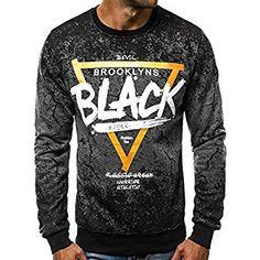 BOLF Mens Sweatshirt Pullover Sweater Pulli Crew Neck Sport Print 1A1 Graphic
