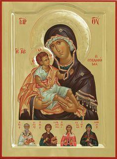 Mother of God Byzantine Art, Byzantine Icons, Religious Icons, Religious Art, Writing Icon, Greek Mythology Art, Roman Mythology, Famous Freemasons, Blessed Mother Mary