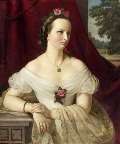 Portrait of Juliane, countess of Brockdorff | Carl Wilhelm Friedrich Oesterley (1865)