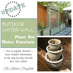 The Interior Frugalista: Plant Pots to Water Fountain {step-by-step tutorial}