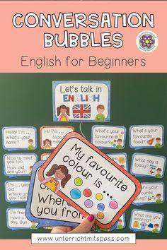 Conversation Bubbles - English for Beginners (+ bearbeitbare Sprechblasen) – Unterrichtsmaterial im Fach Englisch