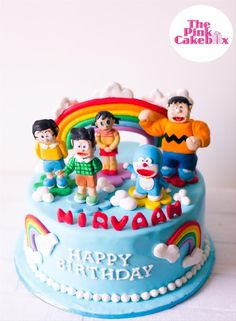 Doraemon and Friends Birthday Cake - WhiskIt