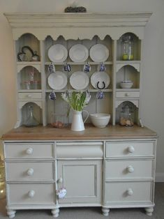 Pine Welsh Dresser Shabby Chic Farrow Ball French Grey Gray Cottage Pinterest And