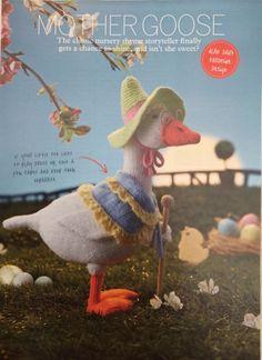 Knitting pattern for Alan Darts Mother Goose toy