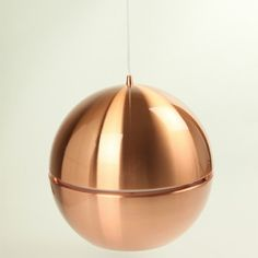 VIBEKE Copper Pendant Light for your home, office and commercial area. Shop for more pendant lights here at She Lights for great deals!VIBEKE Copper Modern Pendant Lighting Sydney - Stunning yet simple the high polished chrome sphere of the VIBEKE pendant Copper Pendant Lights, Modern Pendant Light, Glass Pendant Light, Glass Pendants, Pendant Lighting, Ceiling Fixtures, Ceiling Lights, Melbourne, Spotlight Lamp