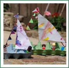 egg carton boat -- this toy looks fun, and it is also a pretty simple craft project!