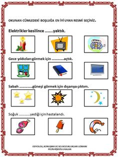 Story Maps, Turkish Language, Olay, Speech Therapy, Kids Learning, Montessori, Teaching, How To Plan, Education