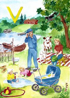 Sagan aapinen kirjain V Saga, School, Kids, Painting, First Grade, Young Children, Boys, Painting Art, Paintings