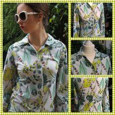 Tropical cotton shirt, retro by Puffka&Sue