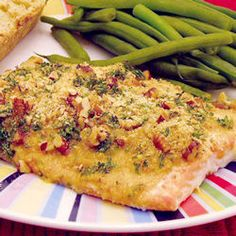 Seafood, Baked Dijon Salmon, Salmon Fillets Brushed With Honey And Dijon Mustard, Coated With Bread Crumbs And Baked. Fish Recipes, Seafood Recipes, Great Recipes, Favorite Recipes, Dinner Recipes, Top Recipes, Dinner Ideas, Recipies, Fish Dishes