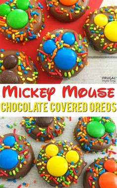 Mickey Mouse Food  - Chocolate Covered Mickey OREOs on Frugal Coupon Living. This is a fun Disney dessert or Mickey Mouse Clubhouse party idea!