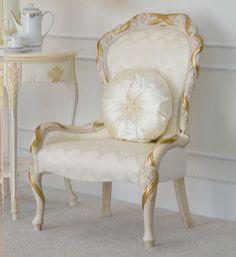 Luxury Italian Las Bedroom Chair