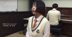 A high school student from Seoul performs a stripped down rendition of 'Hello' by Adele.