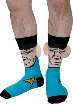 Spock Crew Socks With Ears
