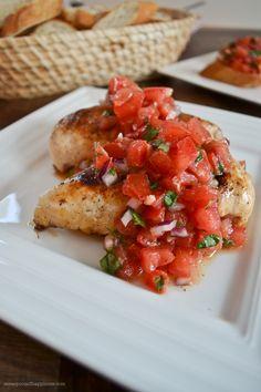 Bruschetta Chicken - A Teaspoon of Happiness