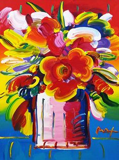 "Flower Vase, by Peter Max, 2010. Acrylic on canvas; 40 x 30"" (102 x 76 cm)"