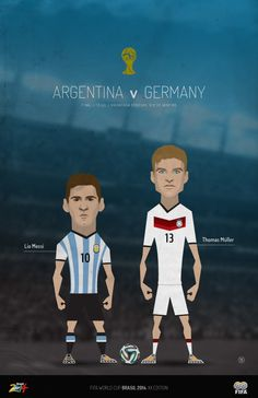 WORLD CUP FINAL! Argentina v Germany on Behance