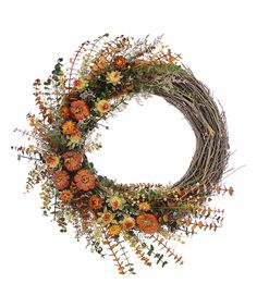 Spicy Pepper Harvest Collection Wreath by Floral Treasure #zulily #zulilyfinds