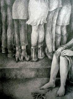 ¨Discriminación¨ Lápiz s/papel 20 x 30 cm