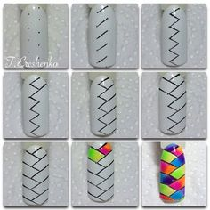 Choose Nail Art Designs That Fit Your Life Nail Art Hacks, Nail Art Diy, Diy Nails, Nail Nail, Nail Polish Designs, Nail Art Designs, Nail Polish Art, Nail Drawing, Nagellack Design