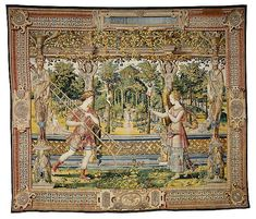 The Story of Vertumnus and Pomona: Vertumnus in the Guise of a Fruitpicker tapestry