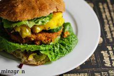 Couscous-Patty Burger mit Mangochutney