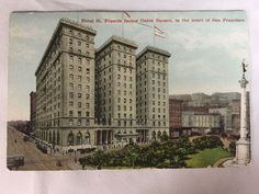 Vintage Hotel St. Francis San Francisco, CA postcard unposted horses and buggies