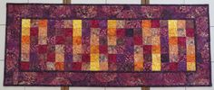 Quilted Batik Table Runner Handcrafted with by Quiltsbysuewaldrep