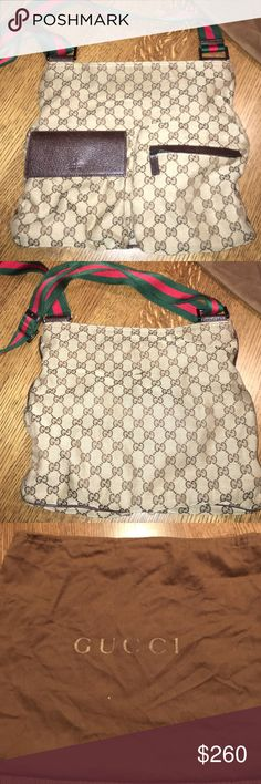 Vintage GUCCI bag Cross-body GUCCI bag. Old but still in great condition Gucci Bags Crossbody Bags