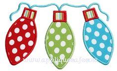 Christmas Lights Applique Design                                                                                                                                                                                 More
