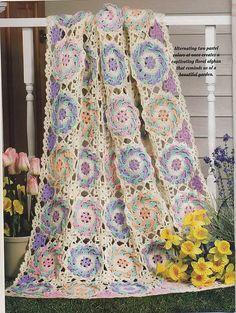 Garden Afghan By Dot Drake - Free Crochet Pattern - (ravelry)