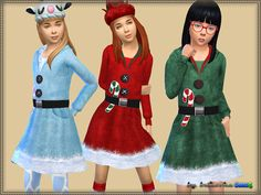 The Sims Resource: Dress Merry Christmas by Bukovka • Sims 4 Downloads