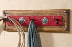 Red Ranch Coat Rack  could make this