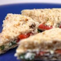 English Tea Sandwiches - Smoked salmon