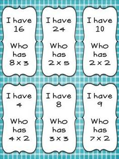 FREE I Have, Who Has Multiplication Review Game | Math ...