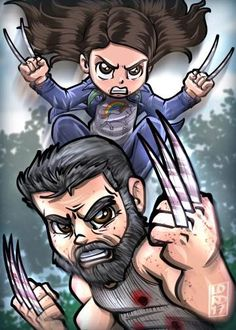 The Logan Movie with X23. By. Lord Mesa Art.------- #Marvel #AgentsofSHIELD #Comics #Pop #discovery #history #marvelcomics #spiderman #xmen #daredevil #ironman #hulk #thor #jessicajones #marvelstudios #netflix #UCM #TheDefenders #disney #agentcarter #doctorstrange
