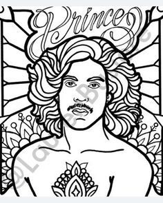 Prince Rogers Nelson memorial coloring page by madebylaurenb