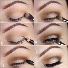 Everyday Step by Step Eye Makeup Tutorial