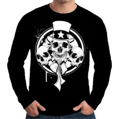 Velocitee Mens T Shirt Colourful Tattoo Sugar Skull Fashion Evil W16313
